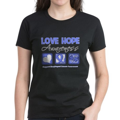 Esophageal Cancer LoveHope Women's Dark T-Shirt