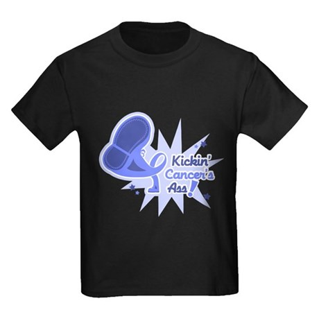 Esophageal Cancer KickinAss Kids Dark T-Shirt