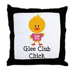 Glee Club Chick Throw Pillow