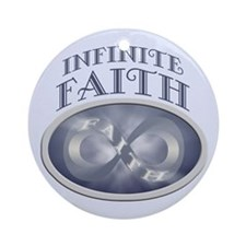 Infinite Faith Infinity Symbol Ornament (Round)