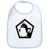 Rebel Penguin Bib
