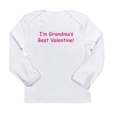 Grandma's Best Valentine Long Sleeve Infant T-Shir