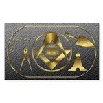 Masonic working tools Rectangle Sticker