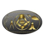 Masonic working tools Oval Sticker