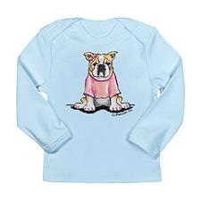 Girly Bulldog Long Sleeve Infant T-Shirt