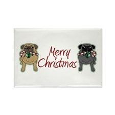 Candy Cane Fawn and Black Rectangle Magnet (10 pac