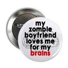 Zombie boyfriend Button