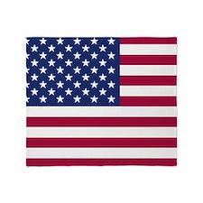 American Flag Throw Blanket