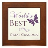 World's Best Great Grandma Framed Tile