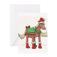 Cute Horse drawing Greeting Card