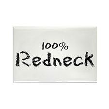 100% Redneck Rectangle Magnet