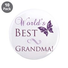 "World's Best Grandma 3.5"" Button (10 pack)"