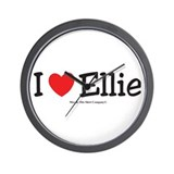 I Love Ellie - custom I Heart Wall Clock