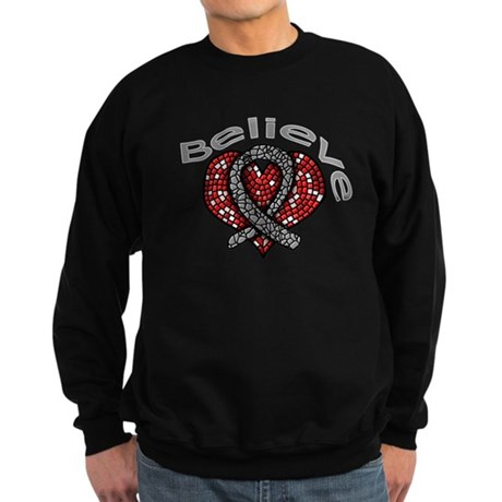 Brain Cancer BelieveHeart Sweatshirt (dark)