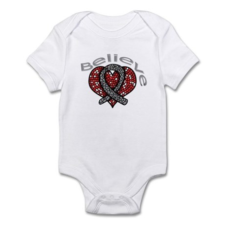 Brain Cancer BelieveHeart Infant Bodysuit