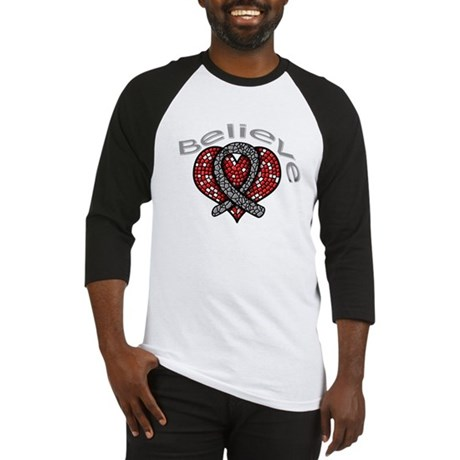 Brain Cancer BelieveHeart Baseball Jersey