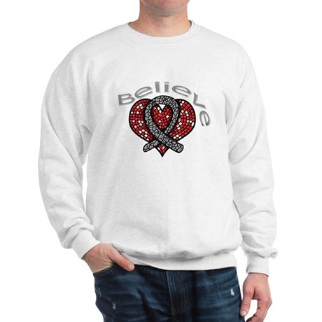 Brain Cancer BelieveHeart Sweatshirt
