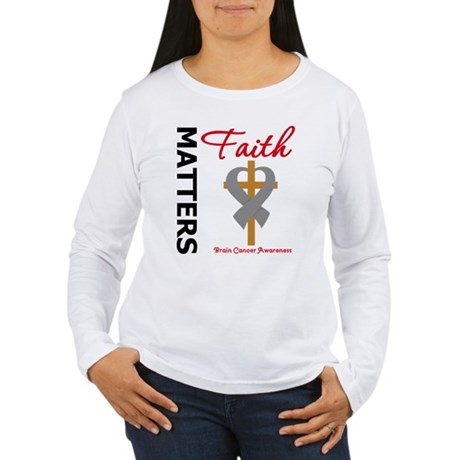 Brain Cancer FaithMatters Women's Long Sleeve T-Sh