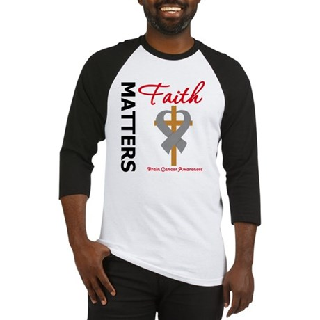 Brain Cancer FaithMatters Baseball Jersey