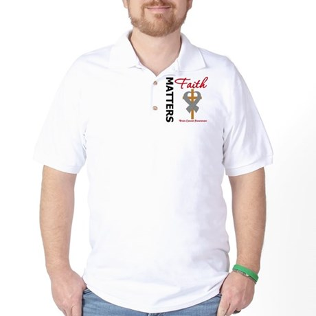 Brain Cancer FaithMatters Golf Shirt