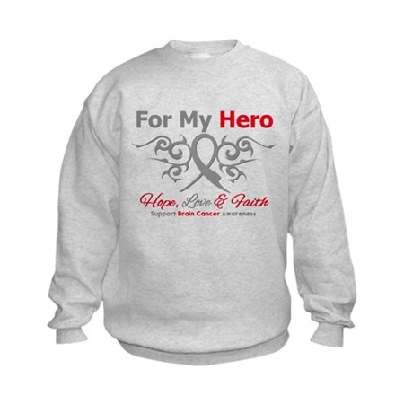Brain Cancer ForMyHero Kids Sweatshirt