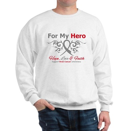 Brain Cancer ForMyHero Sweatshirt