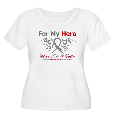 Brain Cancer ForMyHero Women's Plus Size Scoop Nec