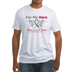 Brain Cancer ForMyHero Fitted T-Shirt