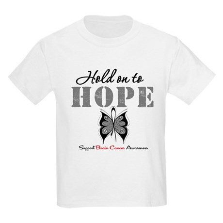 Brain Cancer HoldOnToHope Kids Light T-Shirt