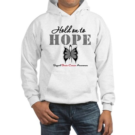 Brain Cancer HoldOnToHope Hooded Sweatshirt