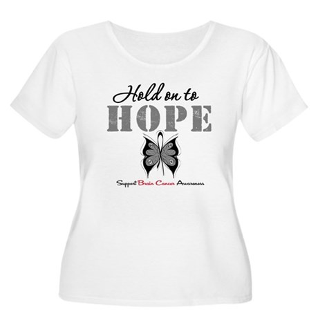 Brain Cancer HoldOnToHope Women's Plus Size Scoop