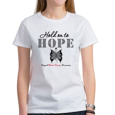 Brain Cancer HoldOnToHope Women's T-Shirt
