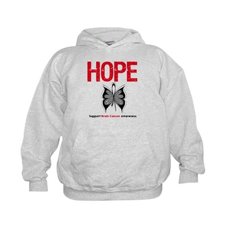 Brain Cancer HopeSlogan Kids Hoodie
