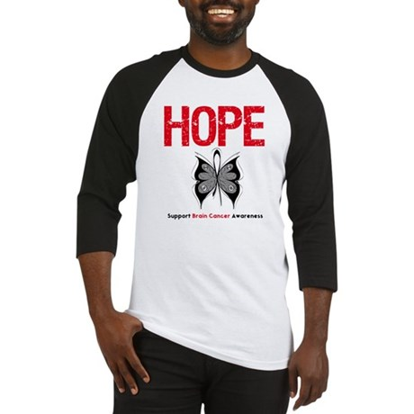 Brain Cancer HopeSlogan Baseball Jersey