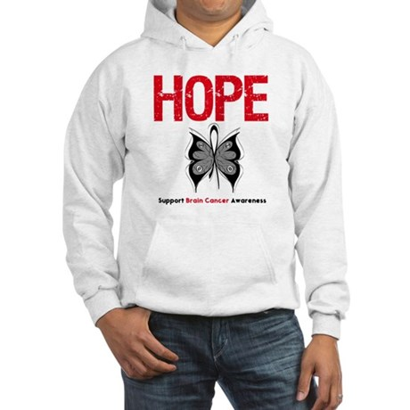Brain Cancer HopeSlogan Hooded Sweatshirt
