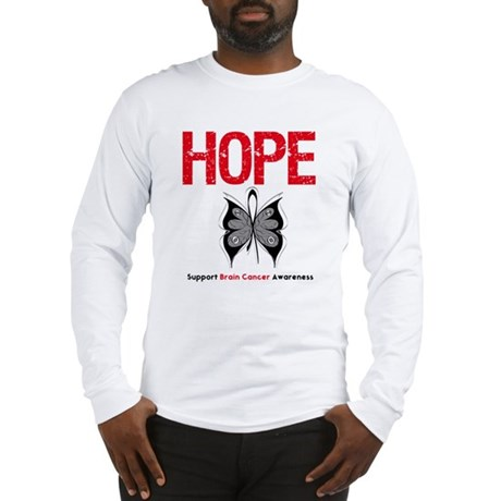 Brain Cancer HopeSlogan Long Sleeve T-Shirt