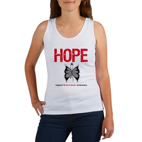 Brain Cancer HopeSlogan Women's Tank Top