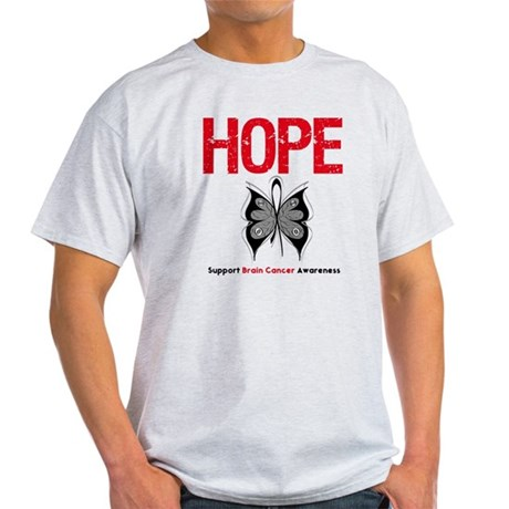 Brain Cancer HopeSlogan Light T-Shirt