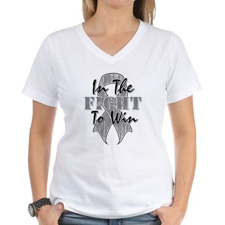Brain Cancer InTheFight Women's V-Neck T-Shirt