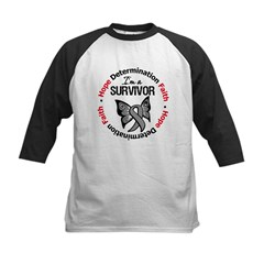 Brain Cancer SurvivorButterfl Kids Baseball Jersey