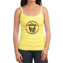 Brain Cancer SurvivorButterfl Jr. Spaghetti Tank