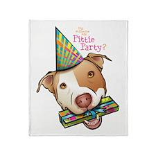 Pittie Party Throw Blanket