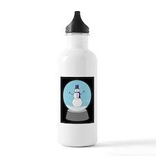 Snow Globe Snowman Water Bottle