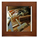 A Carpenter's Tools (2) Framed Tile