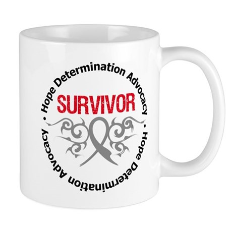 Brain Cancer SurviorTribal Mug