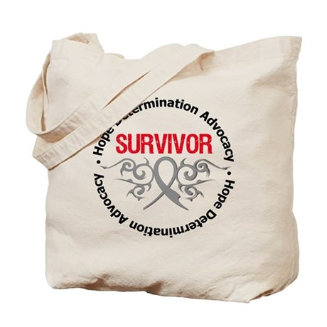 Brain Cancer SurviorTribal Tote Bag