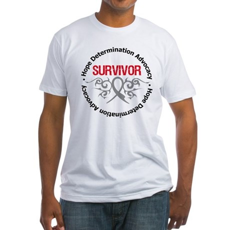 Brain Cancer SurviorTribal Fitted T-Shirt