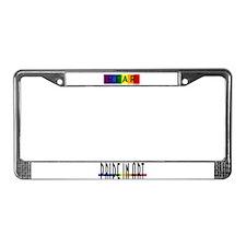 Rainbow Pride Bear License Plate Frame