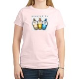Powered By BBT Women's Pink T-Shirt