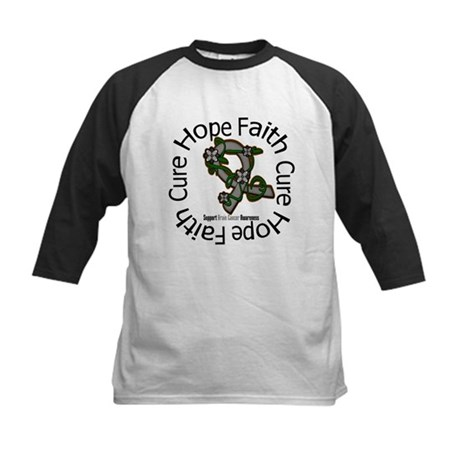 Brain Cancer Hope Flower Kids Baseball Jersey